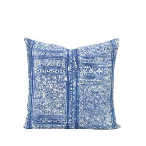 Vintage Hill Tribe Indigo Pillow