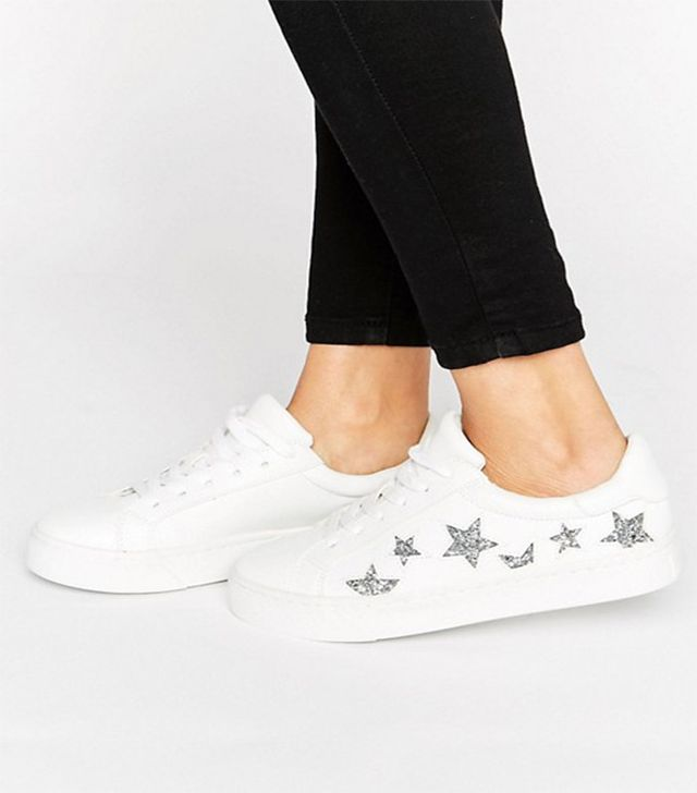 New Look Star Lace Up Trainers