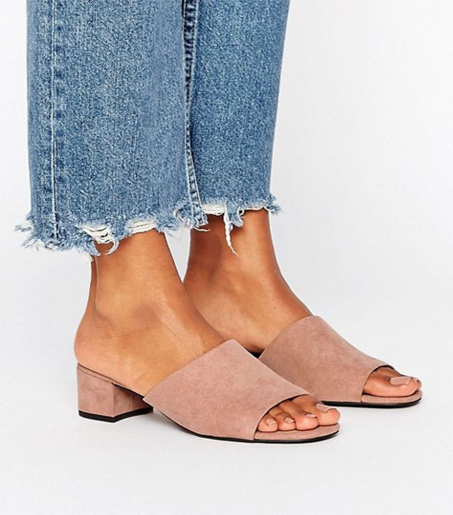 New Look Suedette Heeled Mules