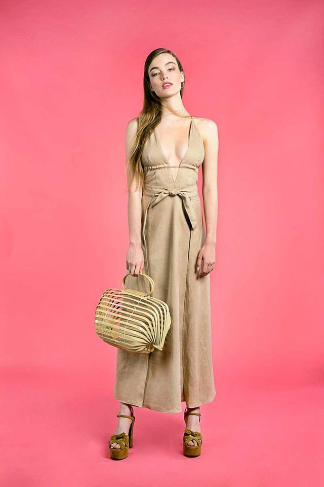 Cult Gaia Marlow Triangle Dress in Tan