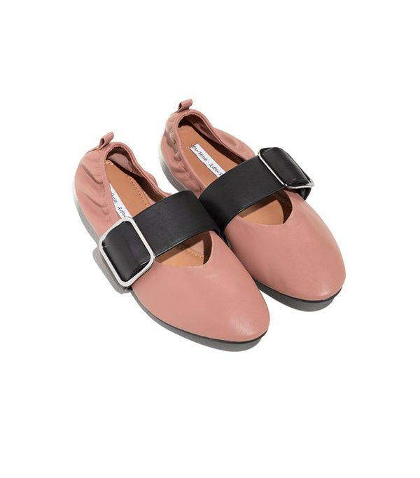 & Other Stories Buckled Leather Ballet Flat
