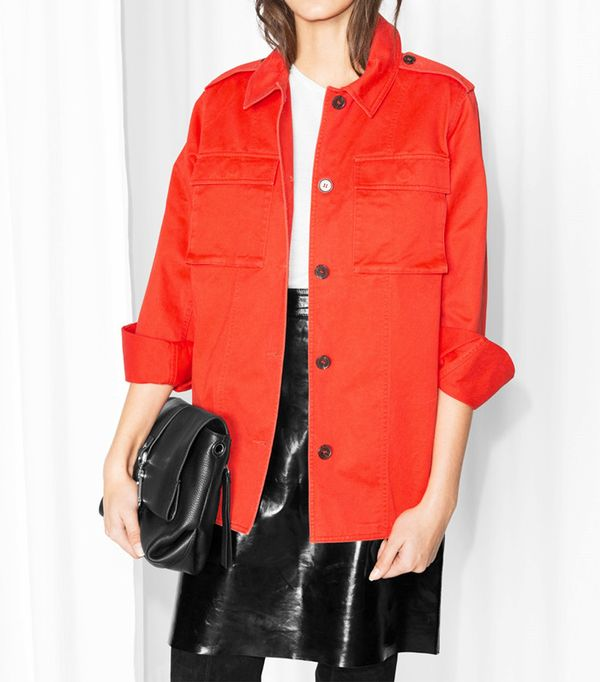 & Other Stories Cotton-Twill Structured Shirt