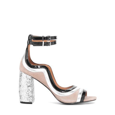 Glitter Heel Strap Sandalette