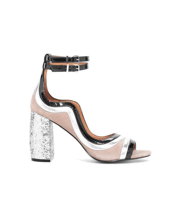 & Other Stories Glitter Heel Strap Sandalette