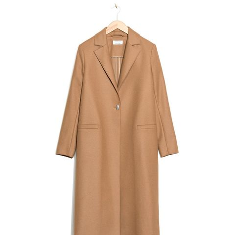 One-Button Wool Coat