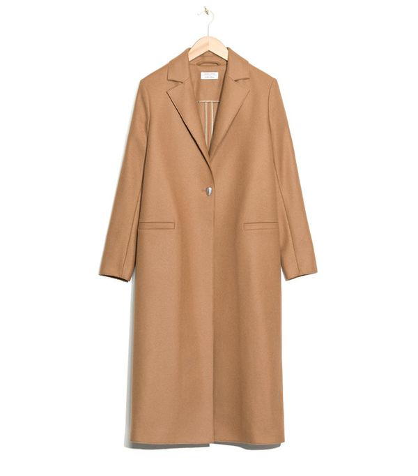 & Other Stories One-Button Wool Coat