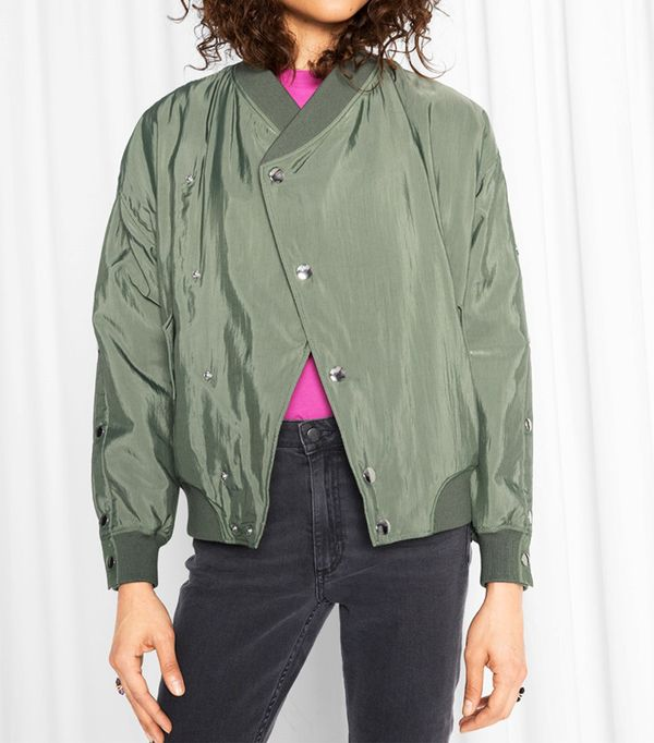 & Other Stories Overlapping Bomber Jacket