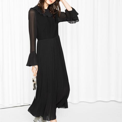 Pleat Maxi Dress