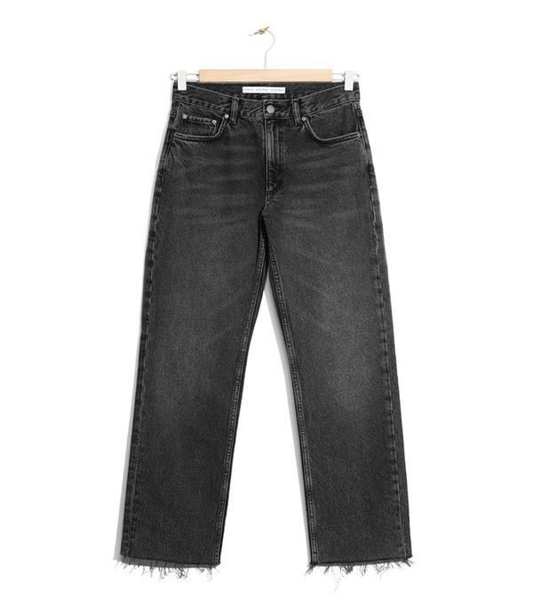 & Other Stories Raw Edge Denim Jeans