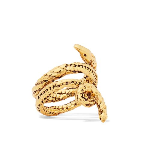 Asclepios Gold-Plated Ring