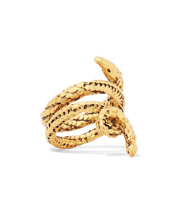 Aurélie Bidermann Asclepios Gold-Plated Ring