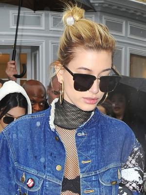 Hailey Baldwin Wore the Most Daring Look to Paris Fashion Week