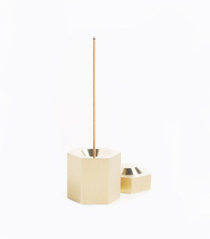 Brass Hexagon Incense Burner by Page Thirty Three