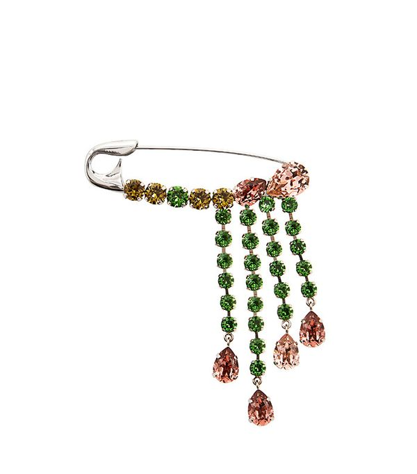 Sonia Rykiel Crystal-Embellished Safety-Pin Brooch