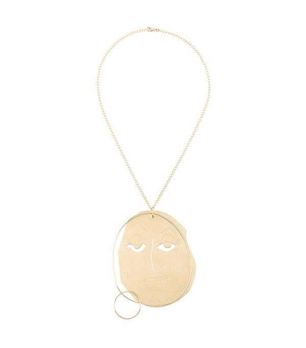 J.W.Anderson Moon Face Pendant