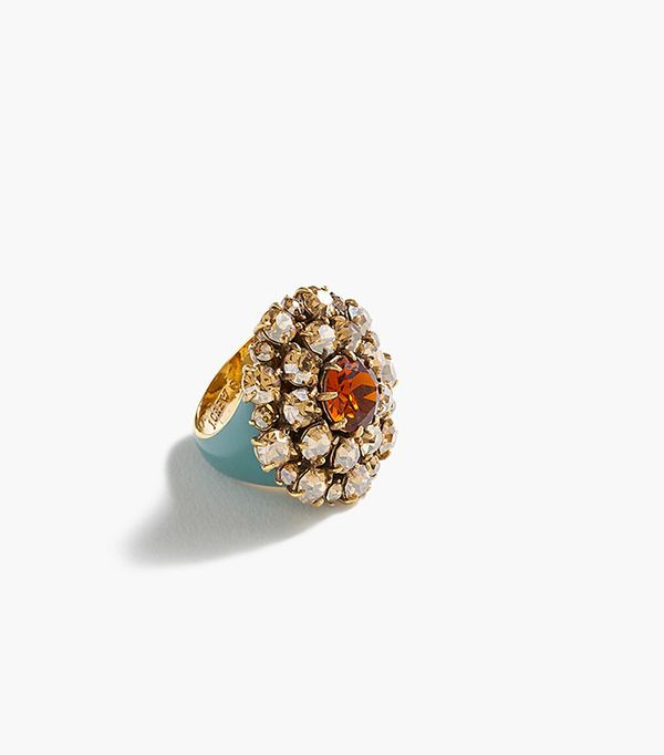 J.Crew Crystal Burst Ring