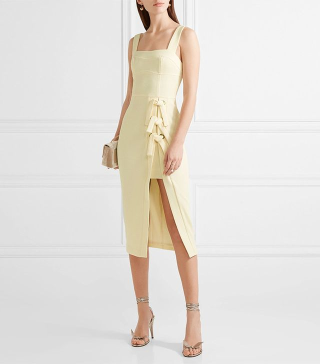 Billie Bow-Embellished Stretch-Crepe Dress