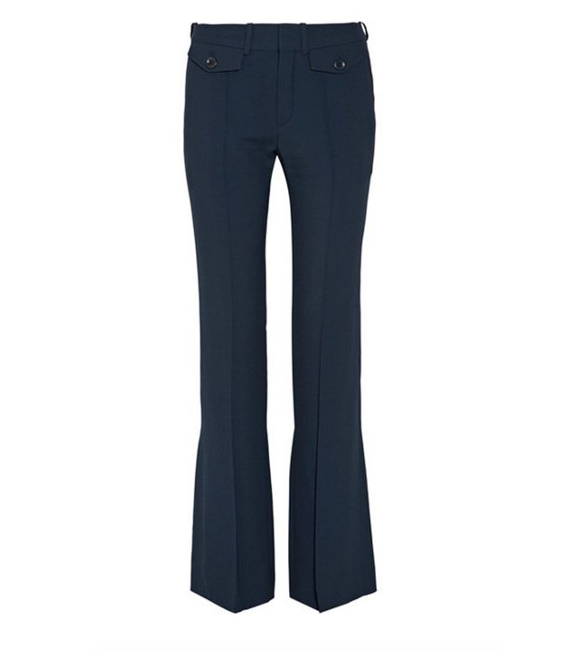 Chloé navy flare trousers