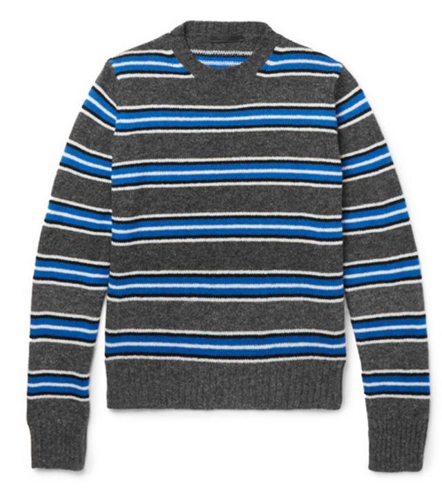 Best menswear for women: Prada stripe jumper