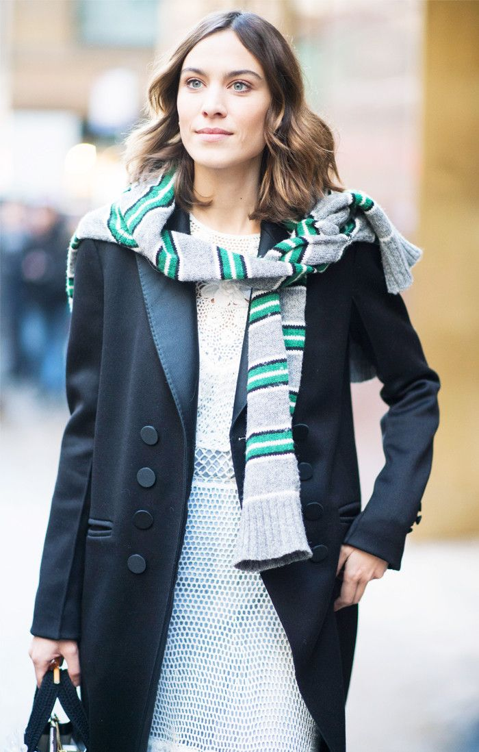 Best menswear for women: Prada stripe jumper Alexa Chung