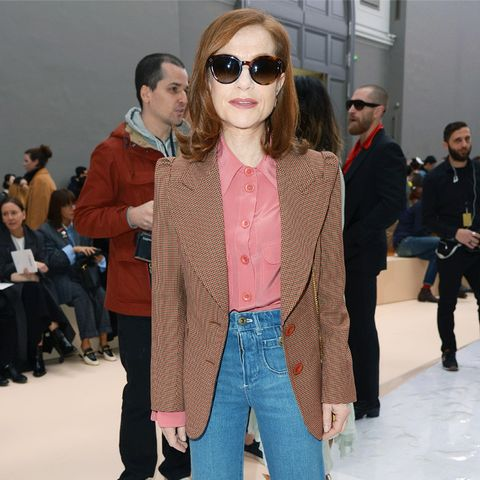 Paris Fashion Week front row February 2017: Isabelle Huppert at Chloe