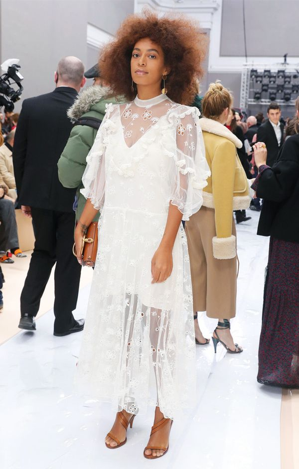 Paris Fashion Week front row February 2017: Solange Knowles at Chloe