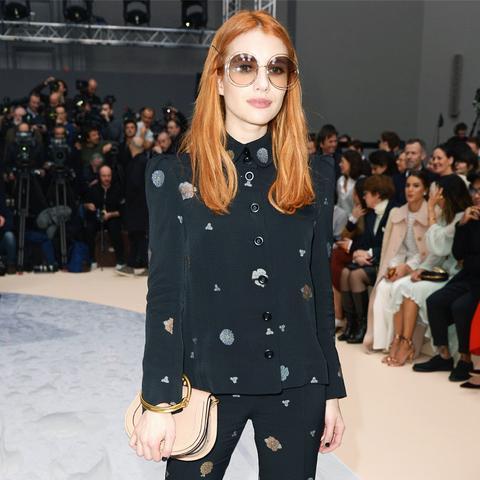 Paris Fashion Week front row February 2017: Emma Roberts at Chloe