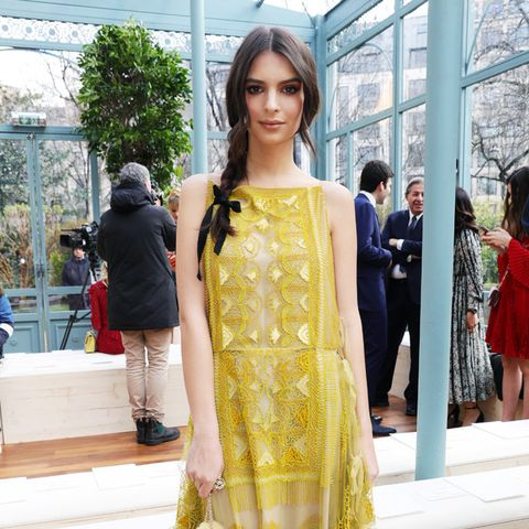 Paris Fashion Week front row February 2017: Emily Ratajowski at Valentino