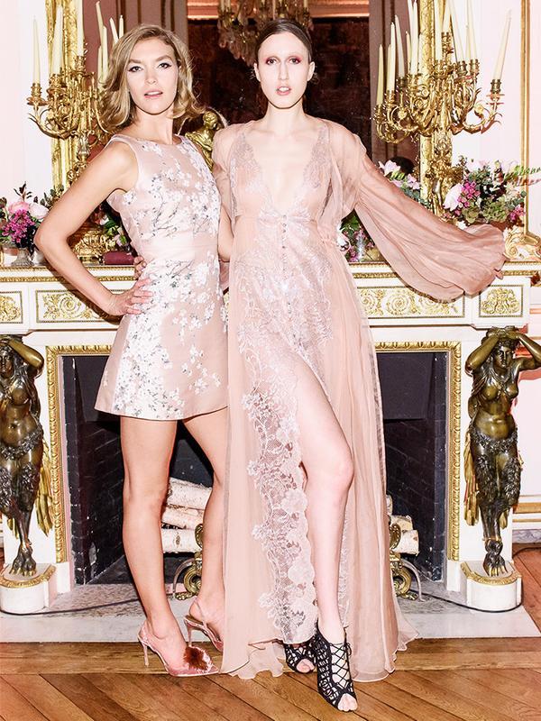 Paris Fashion Week front row February 2017: Arizona Muse and Anna Cleveland