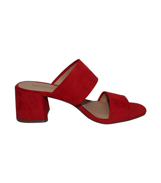 Who What Wear Carolina Double Band Block Heel Slide Sandals