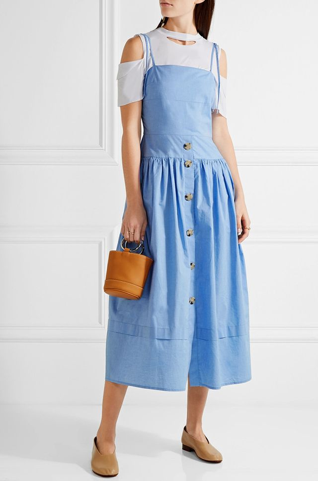 Rejina Pyo Issy Cotton-chambray Midi Dress