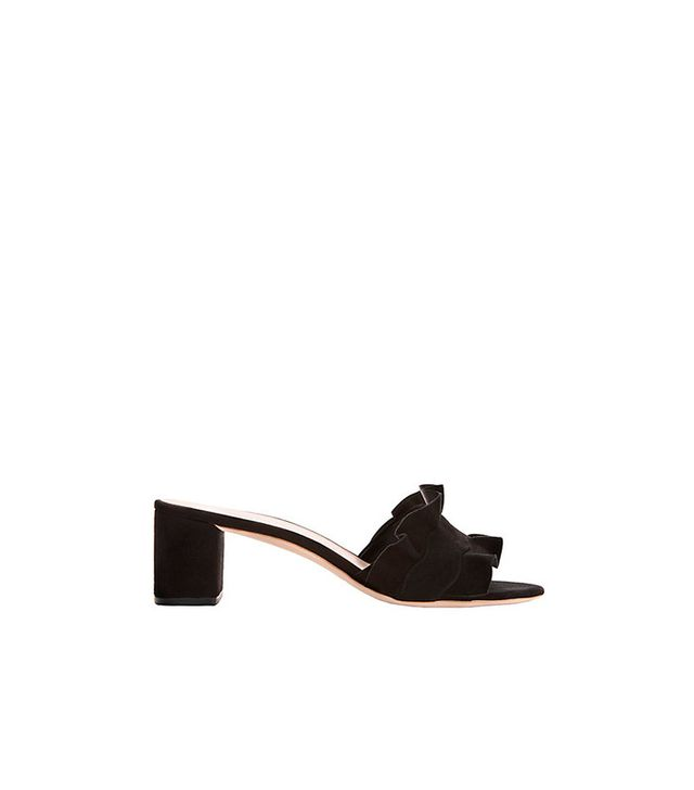 Loeffler Randall Vera Ruffled Suede Sandals