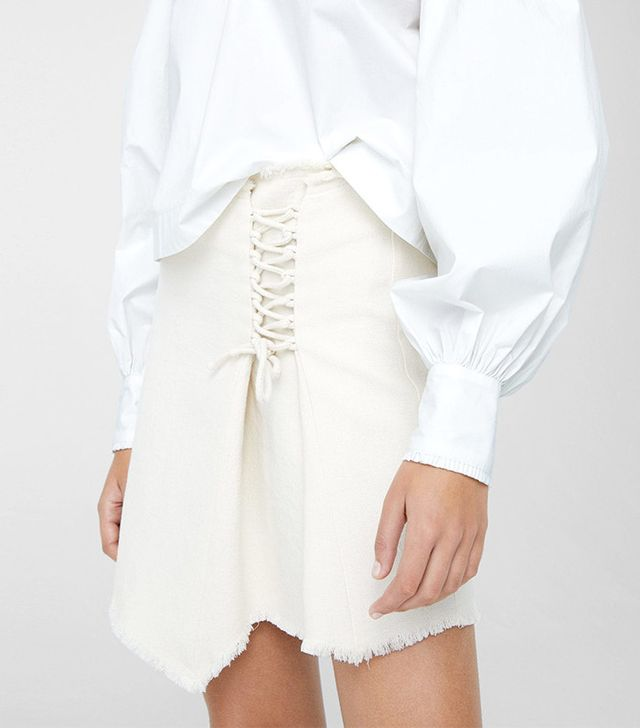 Mango Interwoven Cord Skirt