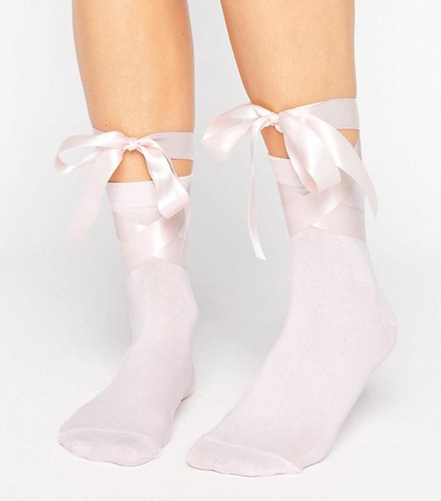 ASOS Bow Strap Ankle Socks