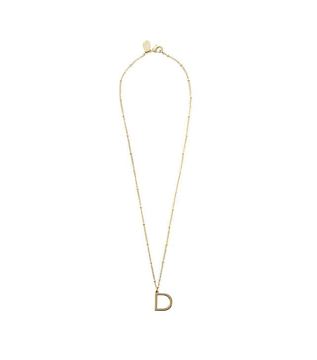 Express Sideways Initial Pendant Necklace