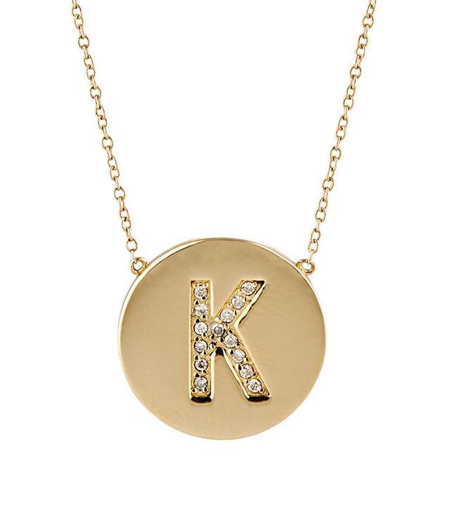 Jennifer Meyer Initial Pendant Necklace