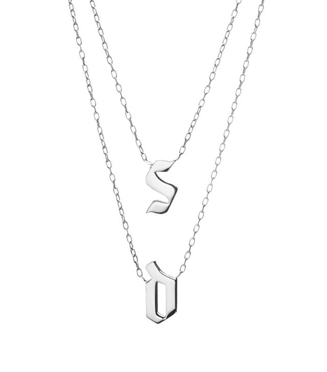 Jennifer Fisher Double Medium Gothic Letter Necklace