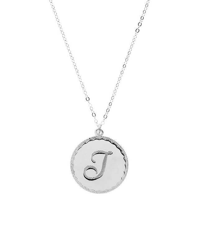 Moon and Lola Dalton Long Initial Pendant Necklace