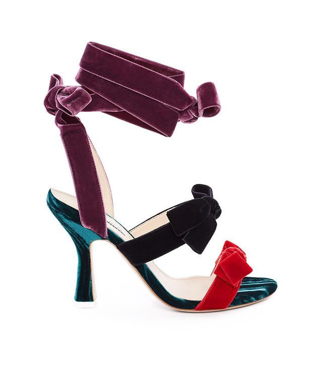 Attico Diletta Ankle Tie Heels