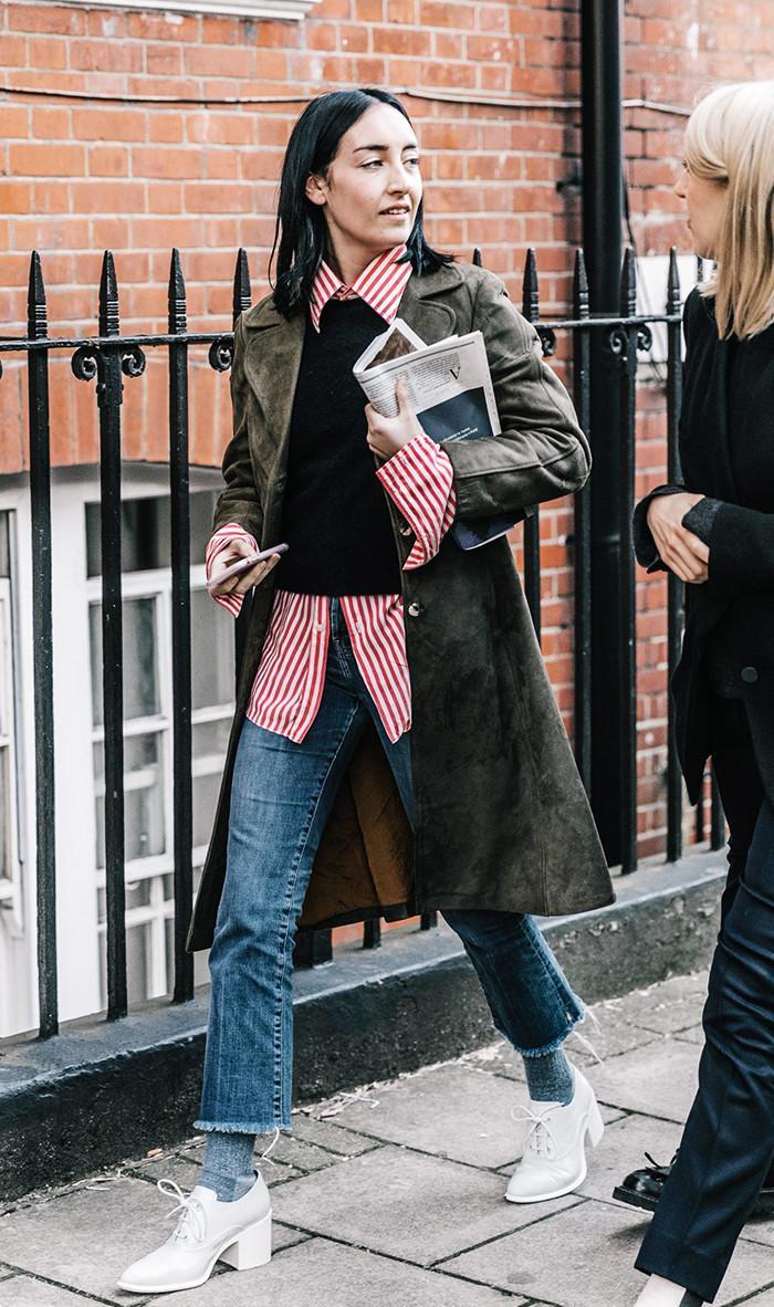 Woman at London Fashion Week