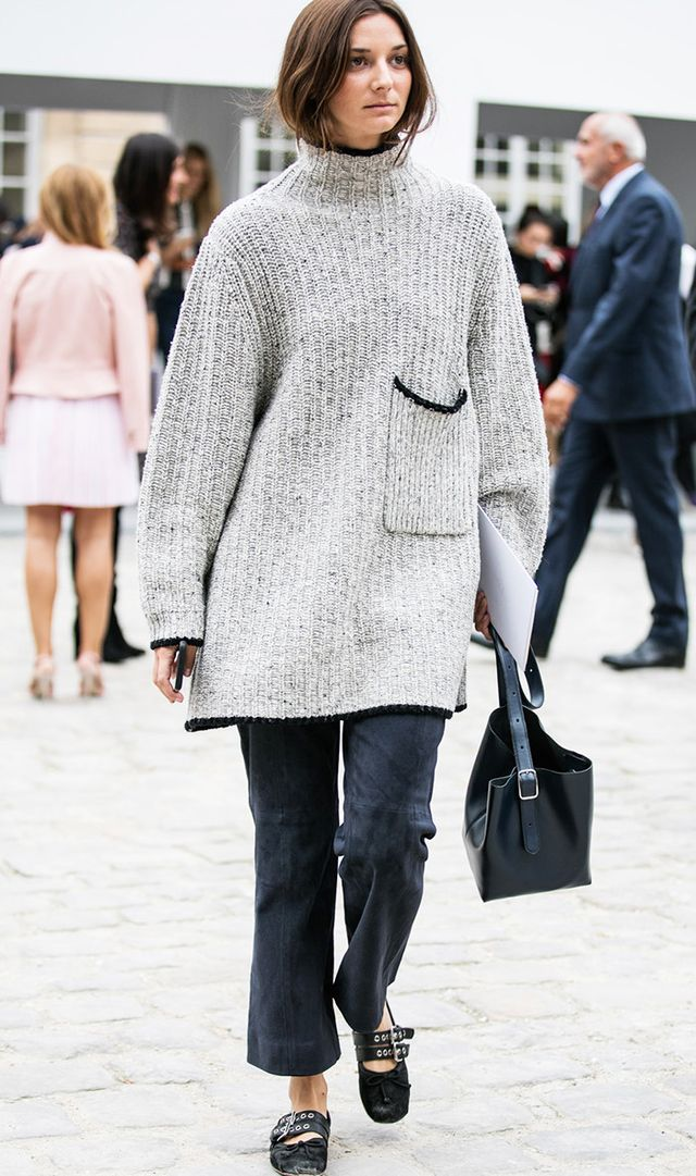 Woman during Paris fashion week