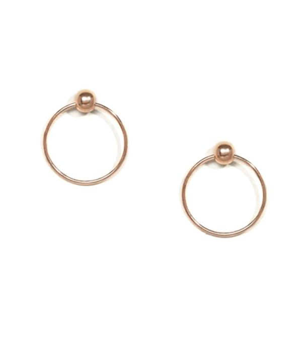 Best Jewelry For The Festival Season ASOS Rose Gold Plated Sterling Silver Stud Circle Earrings