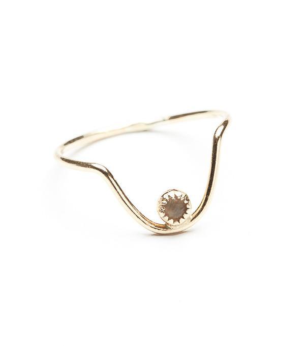 Best Jewelry For The Festival Season Honey My Heart Arc Raw Stone Ring