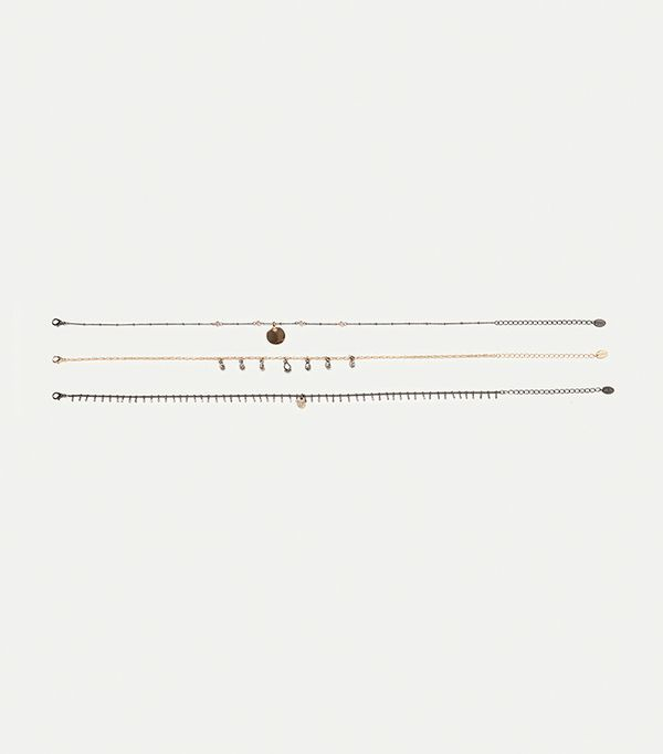 Best Jewelry For The Festival Season Zara 3-Pack of Chokers