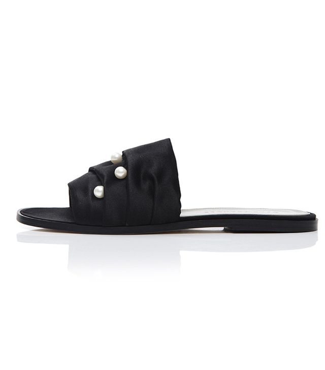 Dear Frances Jen Slides in Black Pearl