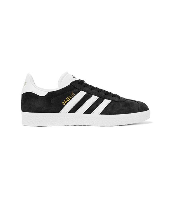 Adidas Originals Gazelle Suede And Textured-Leather Sneakers