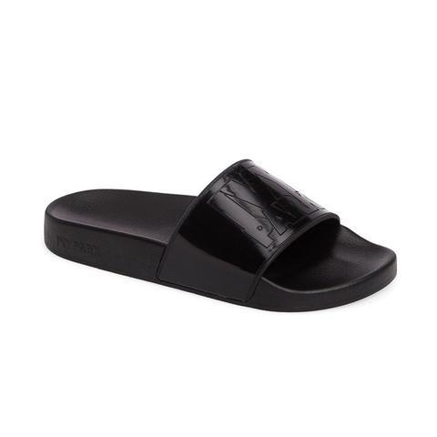 Glossy Logo Slide Sandal