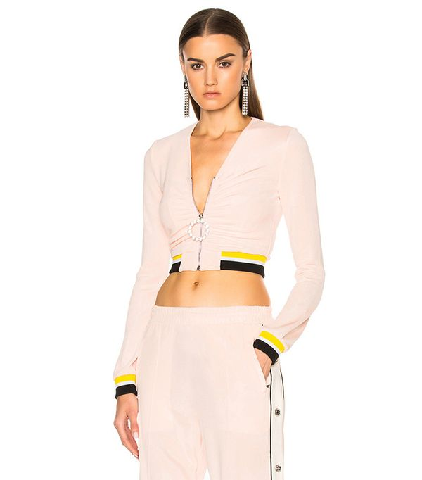 Alessandra Rich Zip Up Tracksuit Jacket