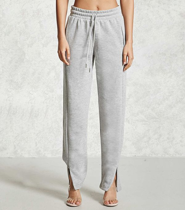 Forever 21 Zippered Drawstring Sweatpants