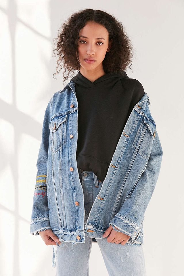 Agolde x UO Devin Distressed Denim Jacket